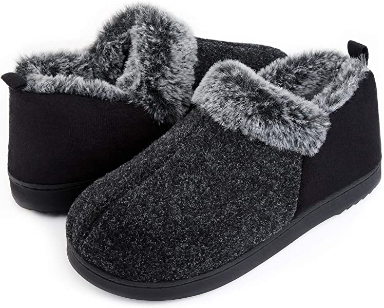 68245057c160 ULTRAIDEAS Women s Cozy Memory Foam Slippers with Warm Plush Faux Fur  Lining