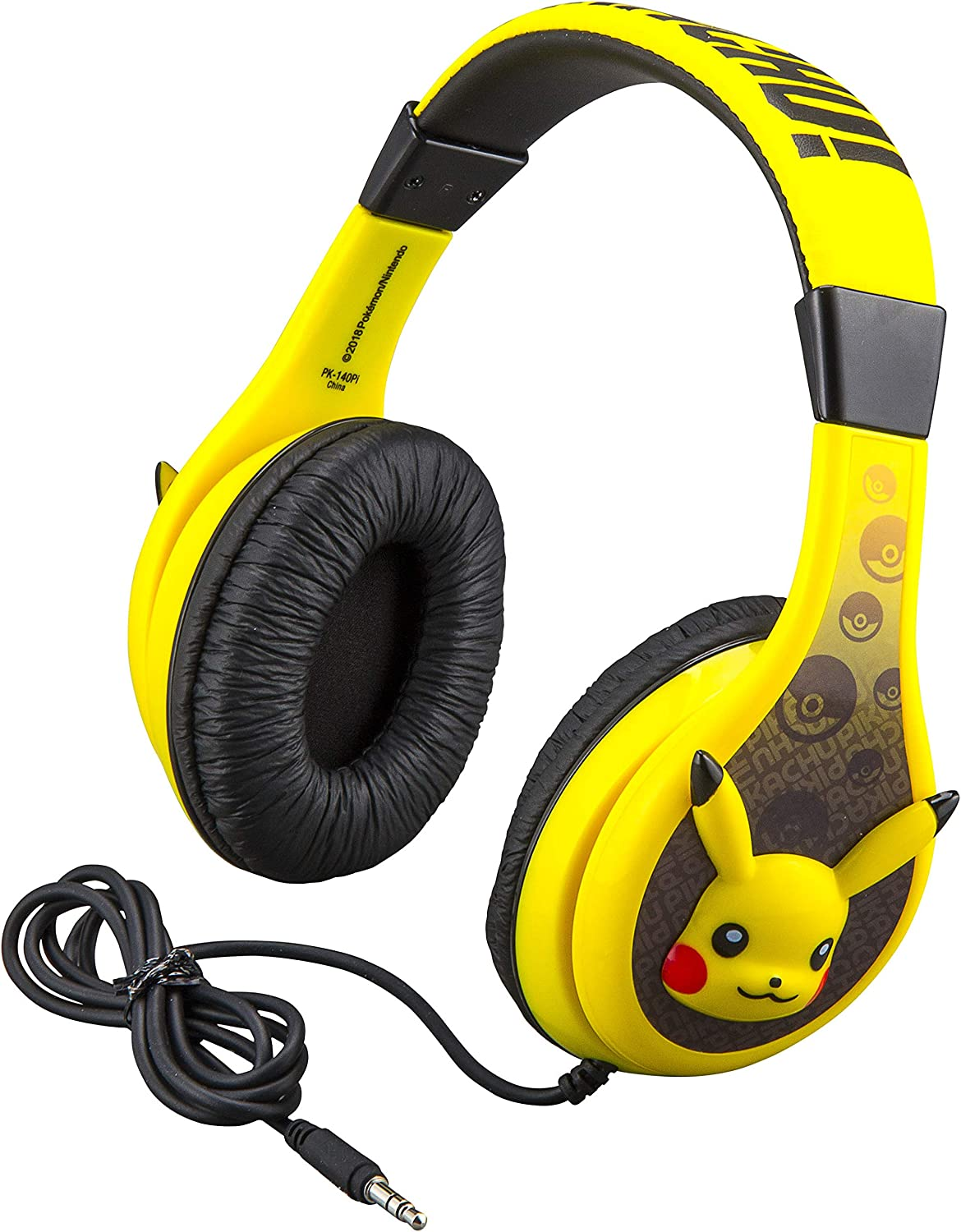 Pokemon Pikachu Kids Headphones This is the best headphones for the kids school look amazing colour and most comfortable for kids