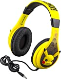 Pokemon Pikachu Kids Headphones, Adjustable Headband, Stereo Sound, 3.5Mm Jack, Wired Headphones for Kids, Tangle-Free, Volume Control, Childrens Headphones Over Ear for School Home, Travel
