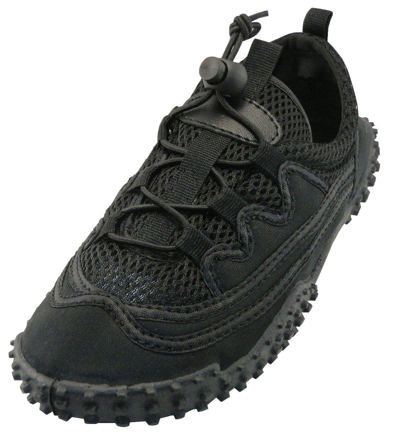Cambridge Select Women's Lace-up Closed Toe Stretch Elastic Closed Toe Mesh Quick Dry Non-Slip Water Shoe B07B5FW5P5 10 B(M) US|Black/Black