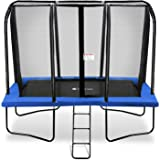 Exacme 7x10 Foot Rectangle Trampoline with Enclosure for Kids Spring Cover Ladder High Weight Limit 6184-0710