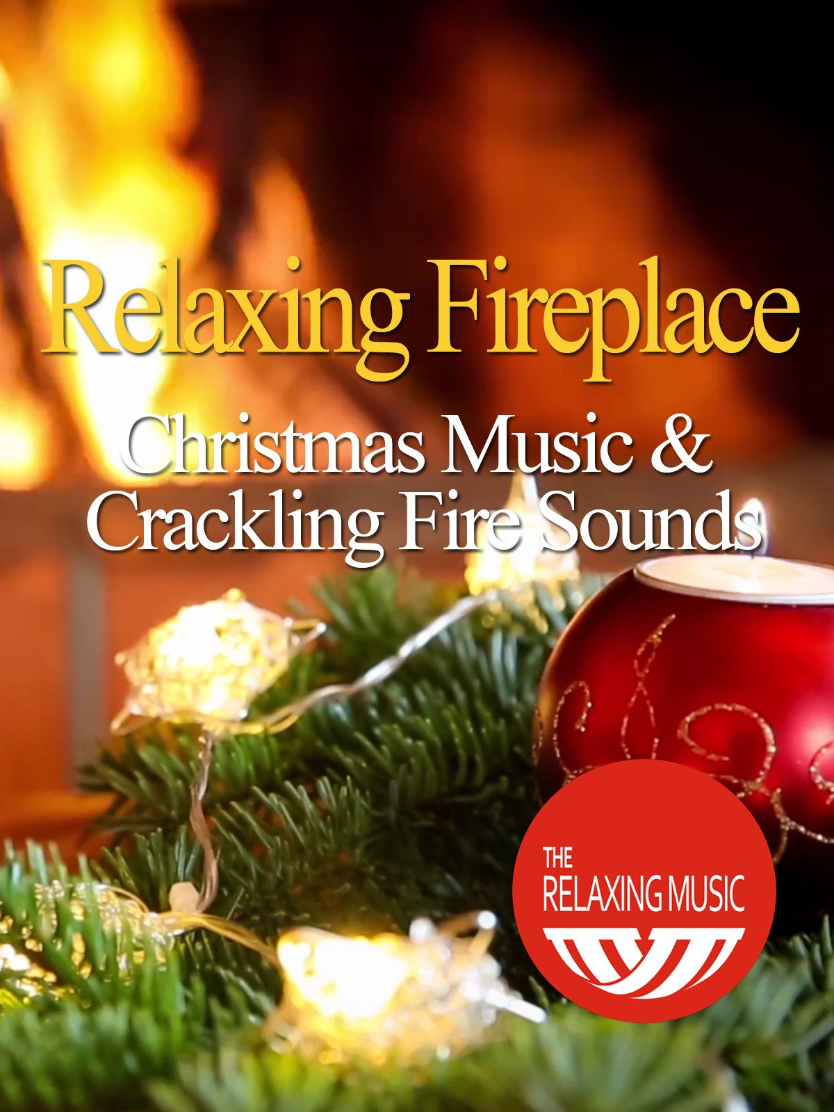 amazon com relaxing fireplace christmas music with crackling fire