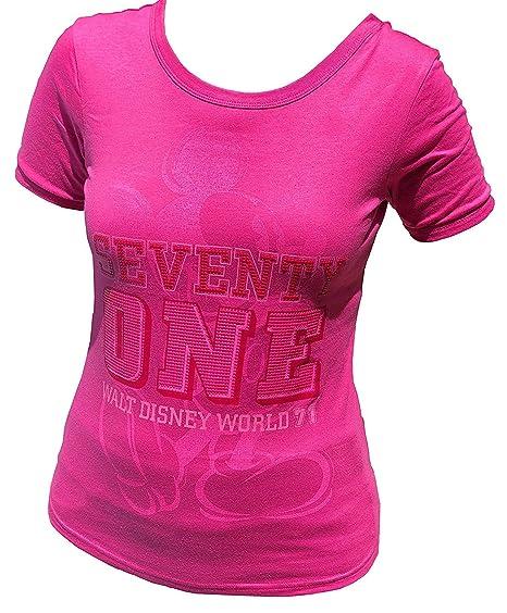 a4d2ceaee01a7c DisneyParks Disney Parks Walt Disney World Seventy One 71 Mickey Classic  Pose Shirt Womens Pink (