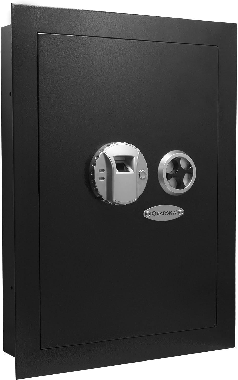 Barska Biometric Fingerprint Security Wall Safe 0.52 Cubic Ft 81Qo4eFK-0L