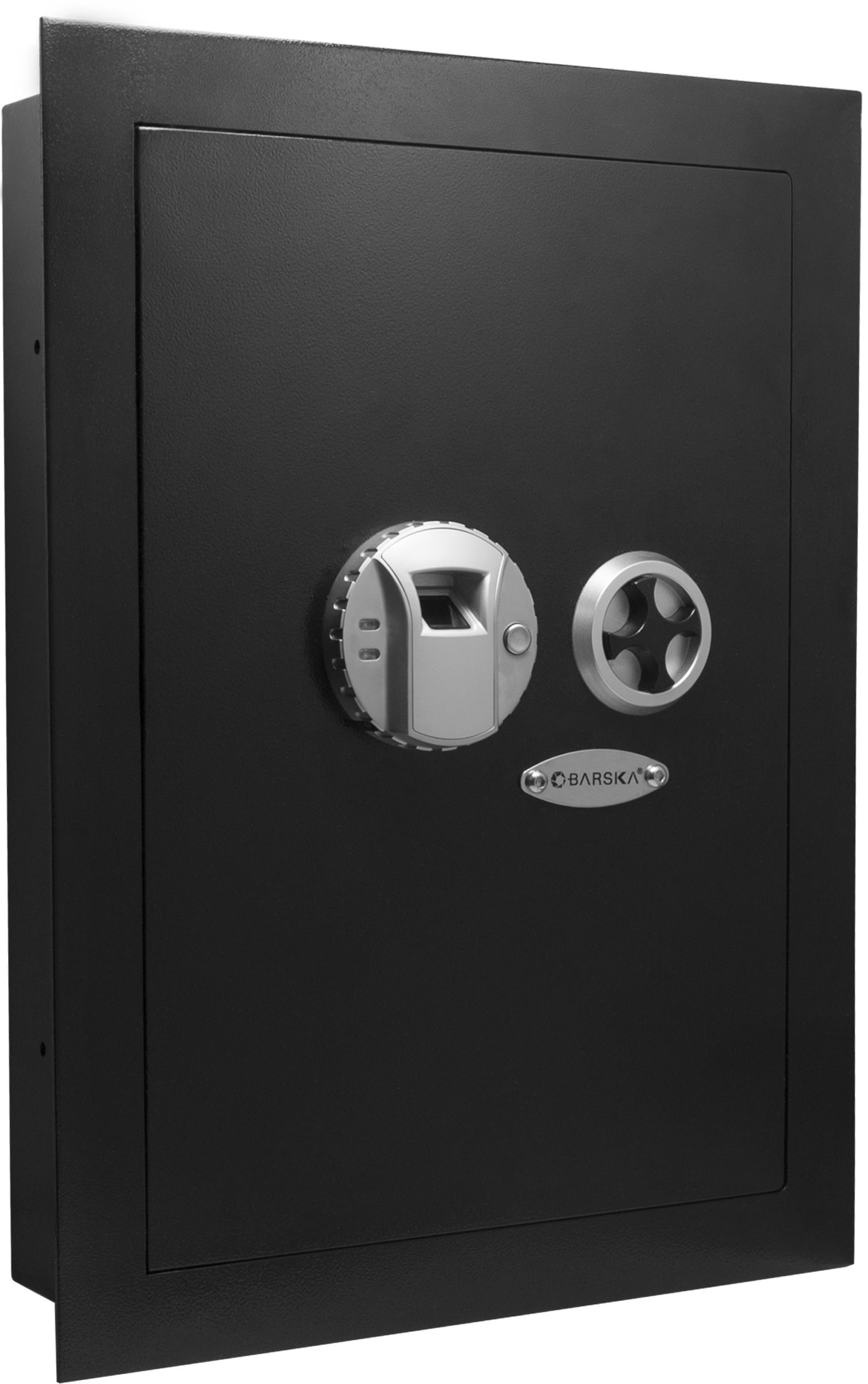 Barska Biometric Wall Safe, Black