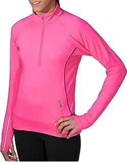 Purple More Mile Vancouver Thermal Hi-Viz Womens Running Top