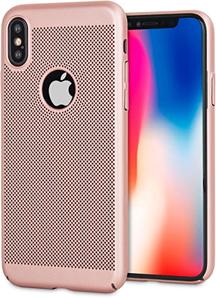 Blue Olixar for iPhone 8 Slim Case Cooling Case MeshTex Heat Dissipating Mesh Cover Breathable Case Wireless Charging Compatible