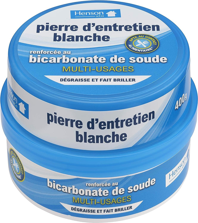 Henson - Piedra de Mantenimiento Blanca de bicarbonato, 400 g: Amazon.es: Hogar