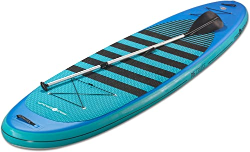 Pro 6, P6-Cruise, ISUP – Inflatable Stand-Up Paddle Board 11 2 x35 x6 Blue-Light Blue