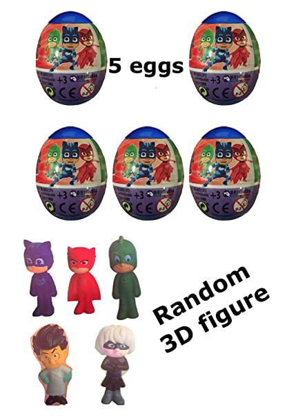 Dolci P 5 New PJ Masks Plastic Surprise Eggs with 3D Character Figure