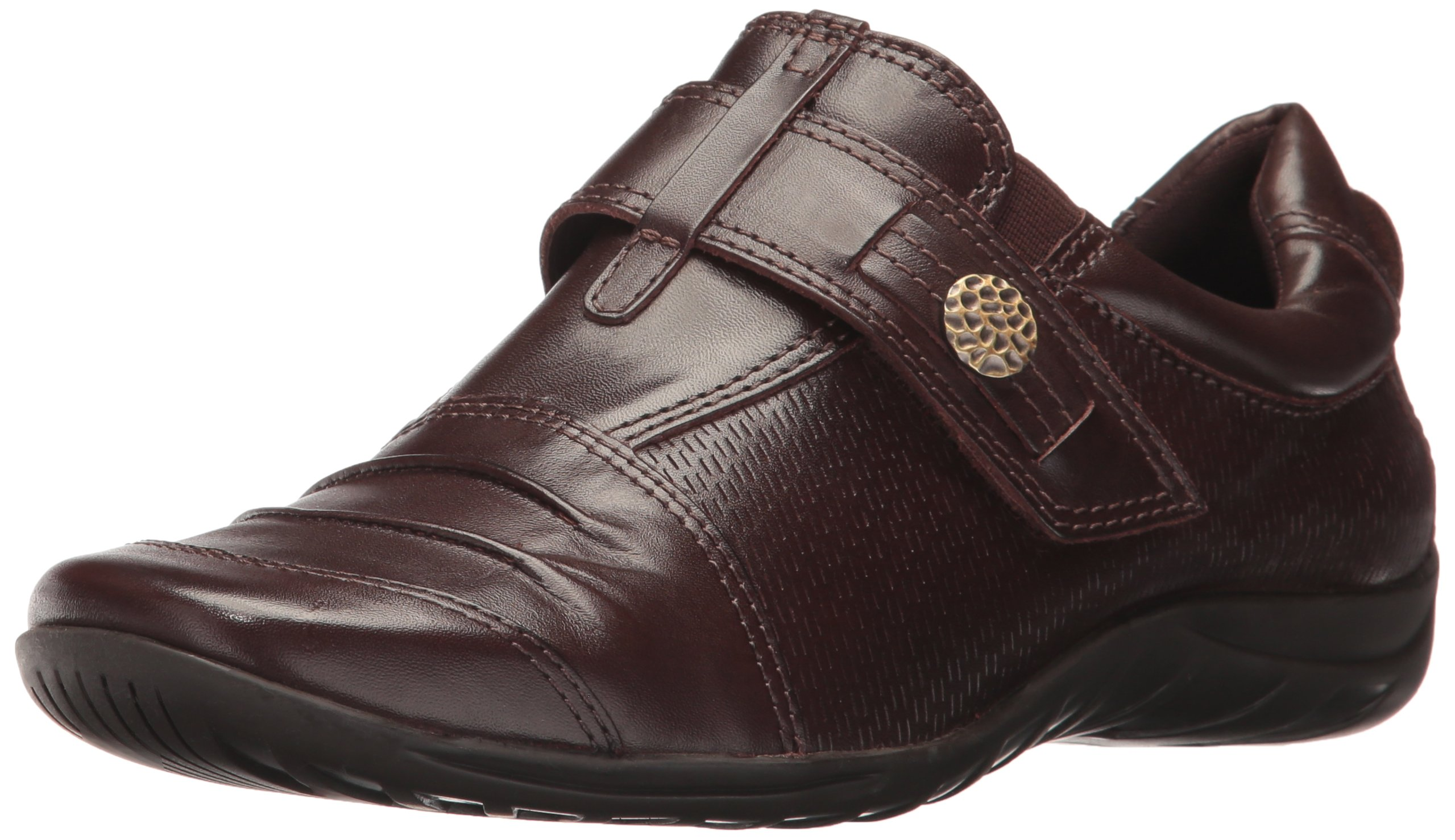 Walking Cradles Women's Aden Driving Style Loafer, Brown Leather, 7.5 XW US