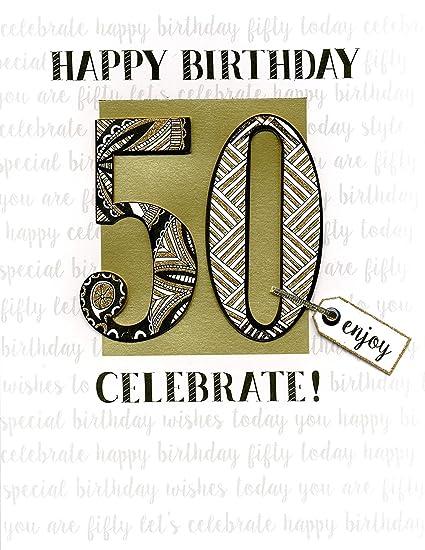 Amazon 50th Birthday Gigantic Greeting Card Embellished