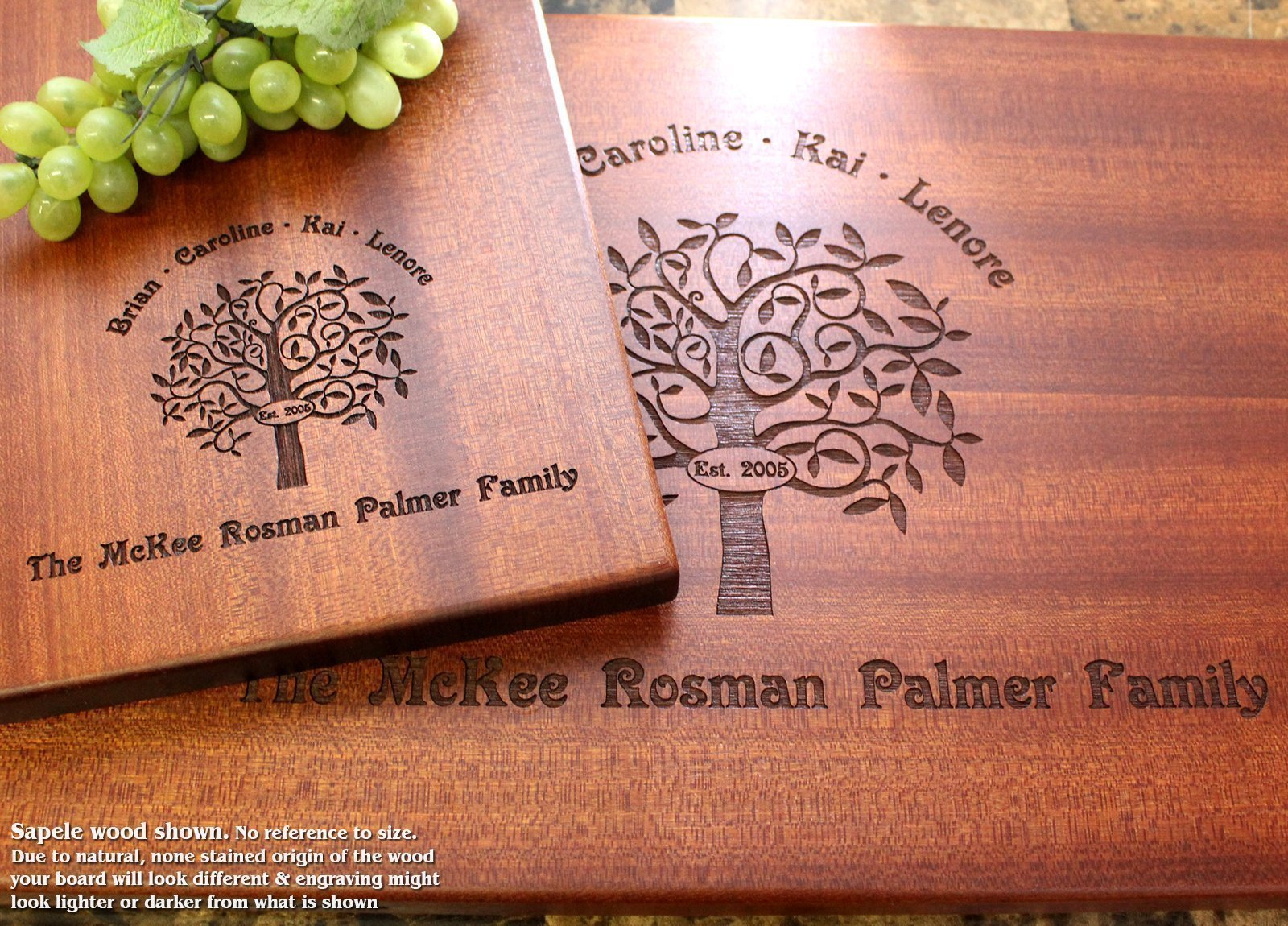 Personalized Cutting Board, Custom Keepsake, Engraved Serving Cheese Plate, Wedding, Anniversary, Engagement, Housewarming, Birthday, Corporate, Closing Gift #402 by Straga Cutting Boards (Image #2)