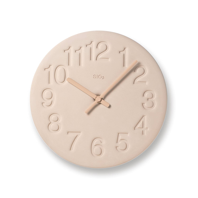 Lemnos 珪藻土の時計 ピンク LC11-08 PK LC11-08 PK B0065ARKDO ピンク ピンク