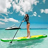 MaxKare Inflatable Stand Up Paddle Board SUP W Paddle Board Inflatable Accessories Triple Action Pump Premium Backpack Paddle