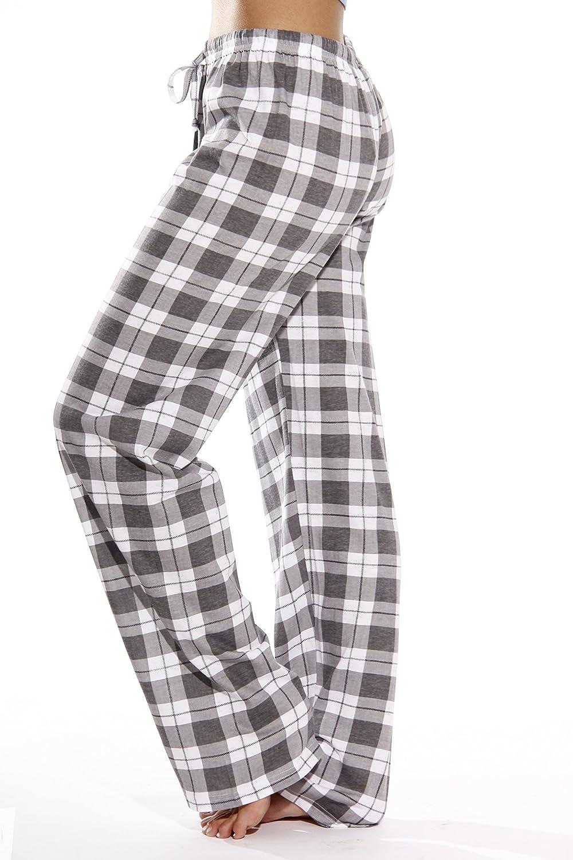 Just Love 100% Cotton Jersey Women Plaid Pajama Pants Sleepwear at  Women's Clothing store