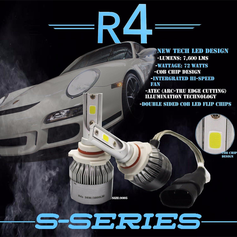 Amazon Com Zforce 6000k Xenon White R4 Cob Chip Led Headlight