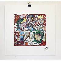 dipinto moderno, dipinto moderno astratto firmato a mano. size - tela 20x20 cm - passepartout - 30x30 cm limited edition artist Alessandro Siviglia - https://alessandrosiviglia.it