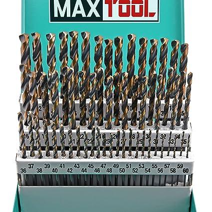 Wire bit set wire center maxtool 60pc hss m2 twist drill bit set 1 60 wire gauge 135 rh amazon com drill bit wire brush wire brush drill bit set keyboard keysfo Image collections