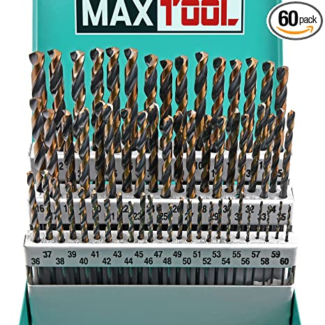 Maxtool 60pc hss m2 twist drill bit set 1 60 wire gauge 135 maxtool 60pc hss m2 twist drill bit set 1 60 wire gauge keyboard keysfo Image collections