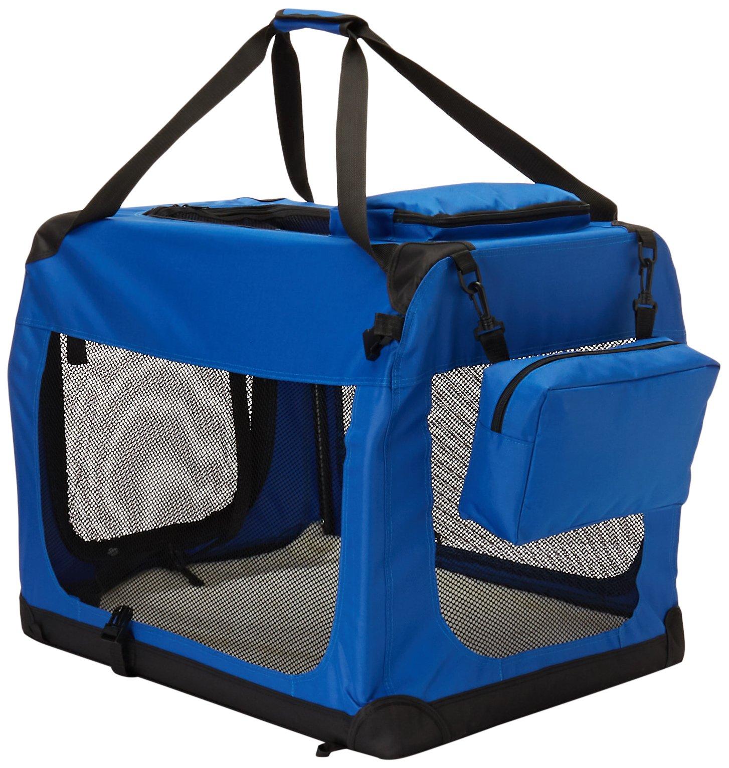 Go Pet Club AC28 Soft Dog Crate, Blue - Small (10 - 25 Lbs)
