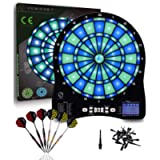 Turnart Electronic Dart Board,13 inch Illuminated Segments Light Based Games Electric Dartboard for Adults Tested Tough…