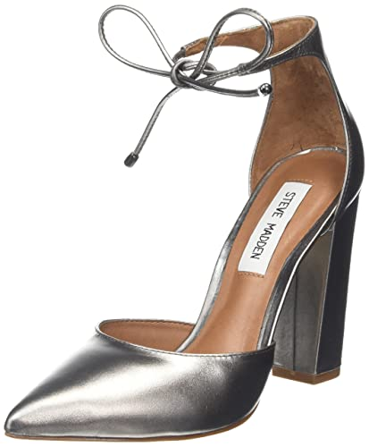 Steve Madden Footwear Women's Pampered Closed-Toe Pumps, Silver (Metallic),  4