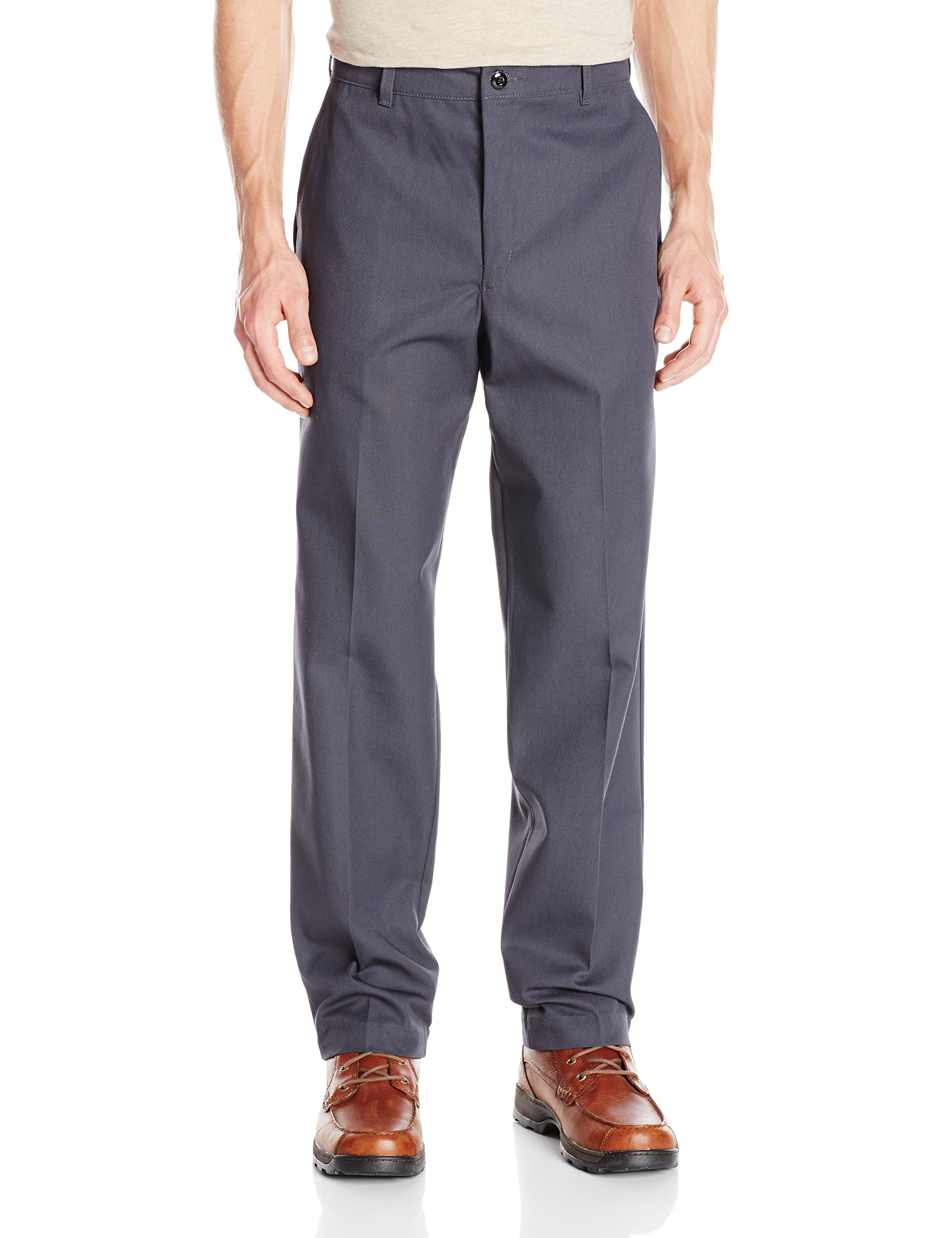 Red Kap Men's' Stain Resistant, Flat Front work Pants, Charcoal, 34x32