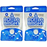 Hydrapak Bottle Bright 12 Count Biodegradable Bottle Cleaning Tablets, Chlorine Free & All Natural, Safe Way to Clean and Odor-free Bottles