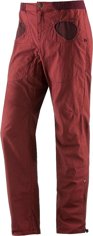E9 Hombre Pantalón de Escalada, Burdeos: Amazon.es: Ropa ...