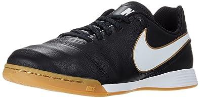 promo code 07f66 bfdee Nike Tiempo Legend Vi Ic Jr, Chaussures de football mixte enfant, Noir  (Black