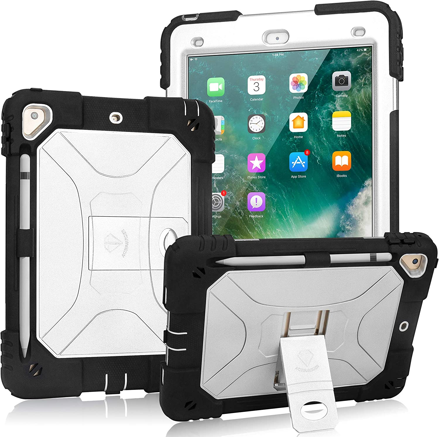 "9.7/"" Hybrid Rugged Hard Stand Case Shockproof Cover for Apple iPad 5th 6th Gen"