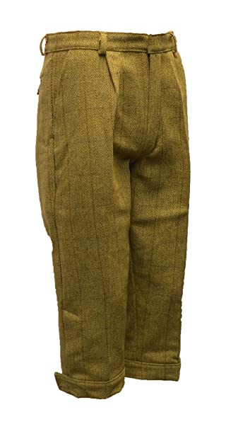 1920s Men's Pants, Trousers, Plus Fours, Knickers Mens Derby Tweed Shooting Plus Fours Long Breeks Trousers - Light Sage - 32-42 Walker & Hawkes -  $76.99 AT vintagedancer.com