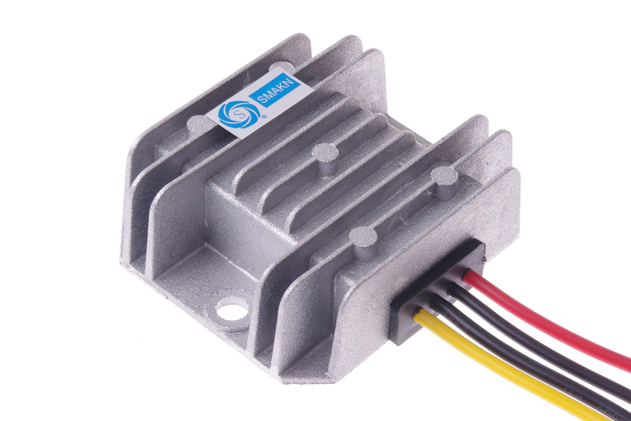 SMAKN® DC-DC Voltage Step-Down Converter Buck Module 12V/24V/36V/48V to 5V 5A 25W Car LED power converter Waterproof by SMAKN (Image #3)