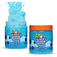 Elmer's Gue Pre Made Slime, Blueberry Cloud Slime, perfumado, 2 unidades