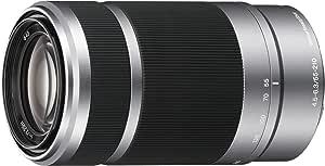 Sony E 55-210mm F4.5-6.3 Lens for Sony E-Mount Cameras (Silver)