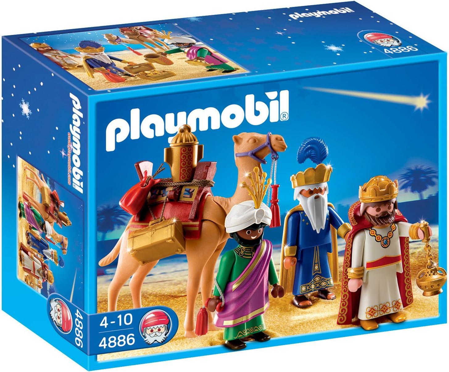 PLAYMOBIL - Reyes Magos, Figuras de Juguete (4886)