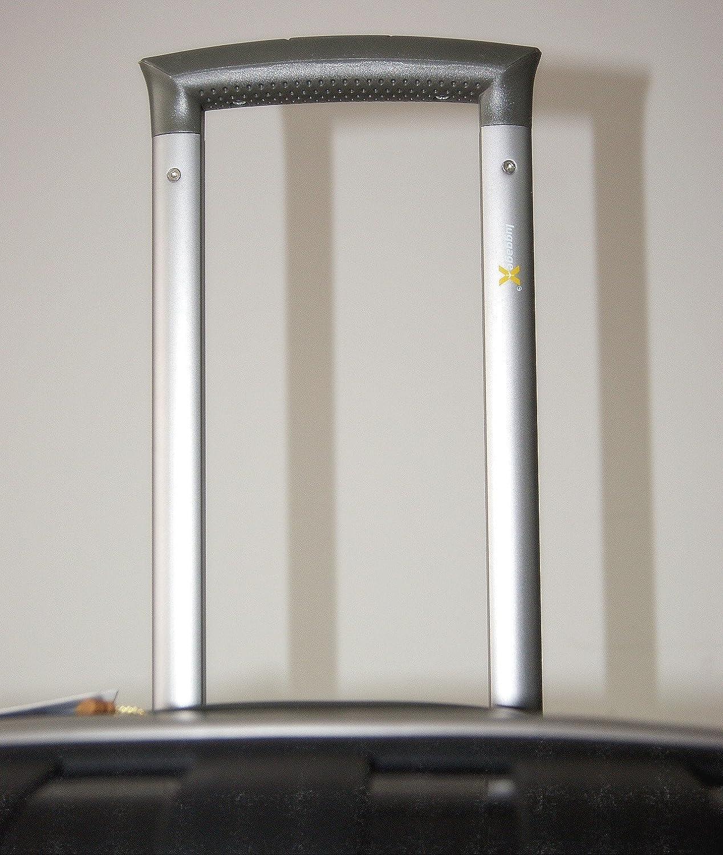 Luggage X - Maleta rígida con ruedas (ligera, polipropileno, 66 cm), color negro: Amazon.es: Jardín