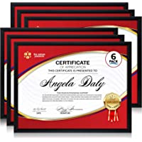 Icona Bay A4 (21 x 29.7 cm) Picture Frame (Black, 6 Pack), Modern Professional Frame, Noble Collection