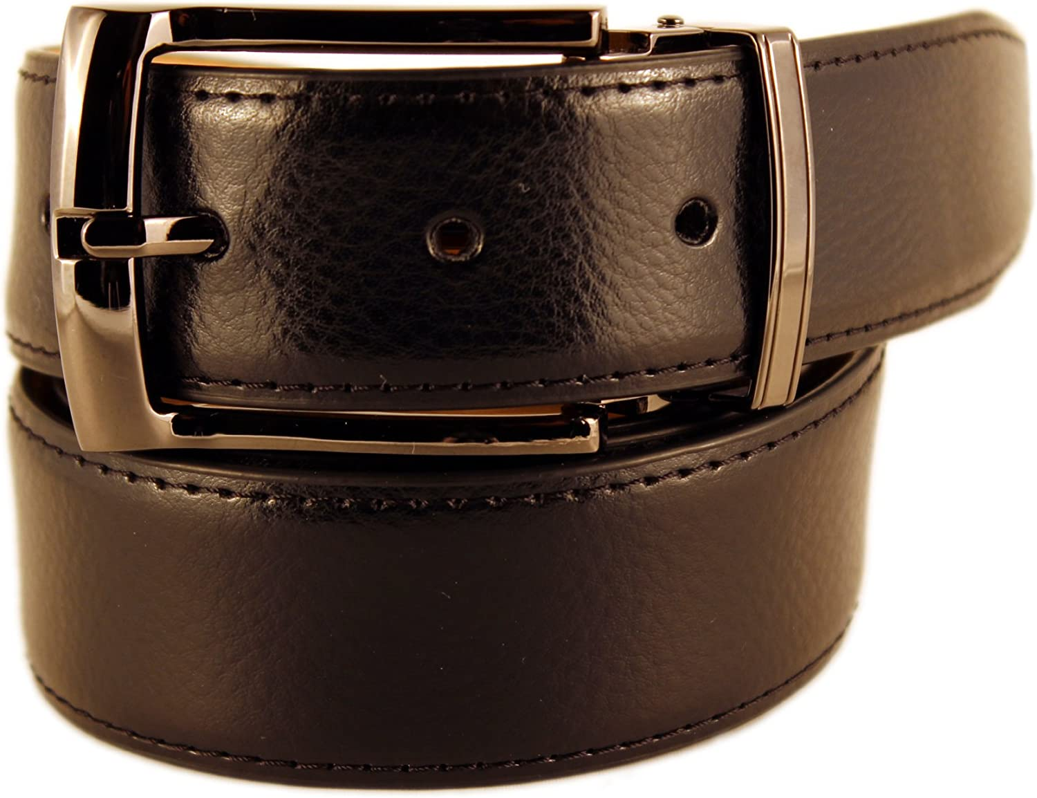 Size New Mens Marco Valentino Italy Genuine Leather Black Textured Belt with Black Nickel Buckle 44