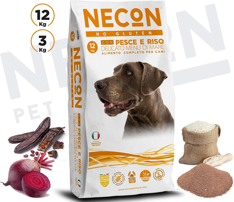 Necon - Pescado y arroz sin gluten (12 kg): Amazon.es ...