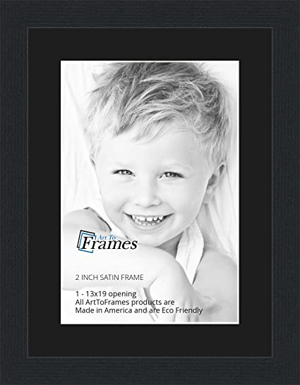 Amazoncom 13x19 13 X 19 Picture Frame Satin Black 2 Wide With