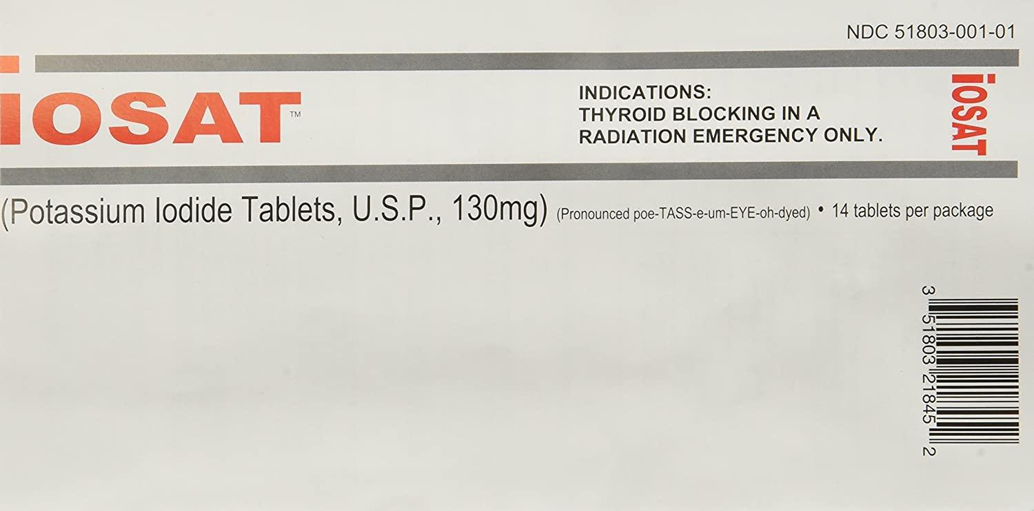 IOSAT 130 mg Potassium Iodide Tablets, 5 Count