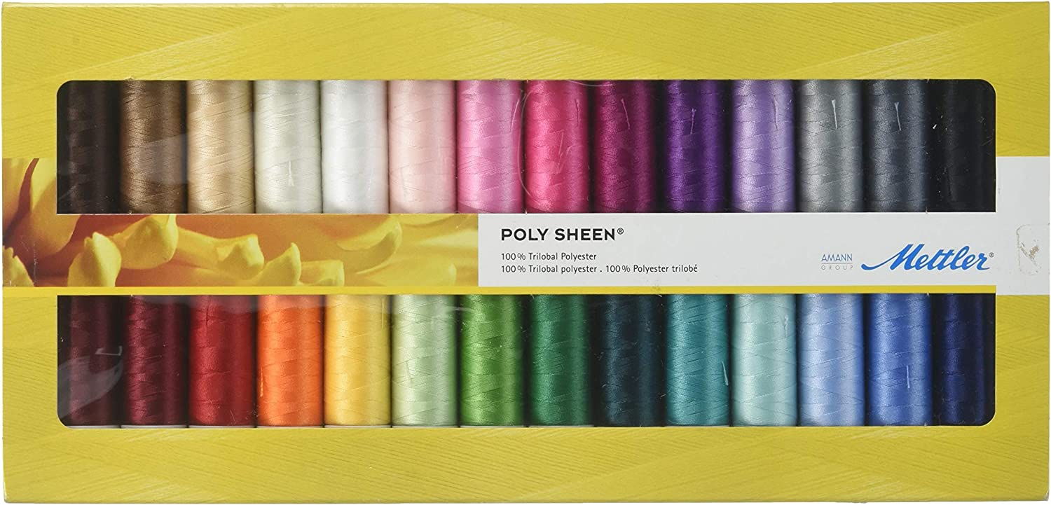 Mettler Polysheen Polyester Machine Embroidery Thread Gift Set Kit Multicolo...