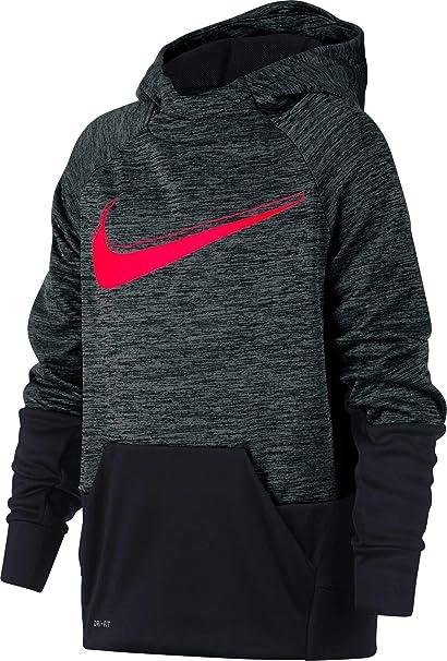 93aaf53d6aec Amazon.com  Nike Boys  Therma Heathered Graphic Hoodie  Sports ...