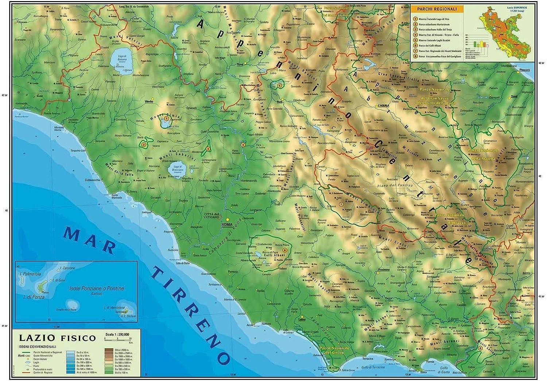 Cartina Italia Politica Lazio.Carta Geografica Murale Regionale Lazio 100x140 Bifacciale Fisica E Politica Amazon It Cancelleria E Prodotti Per Ufficio