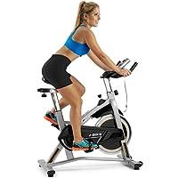 BH Fitness MKT J Vélo de Spinning Mixte Adulte, Gris Argenté