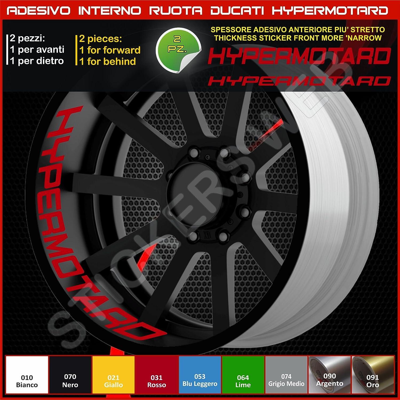 Ducati Hypermotard adesivi ruote interno strisce cerchi decalcomanie strip cerchioni Cod 0220 021 Giallo