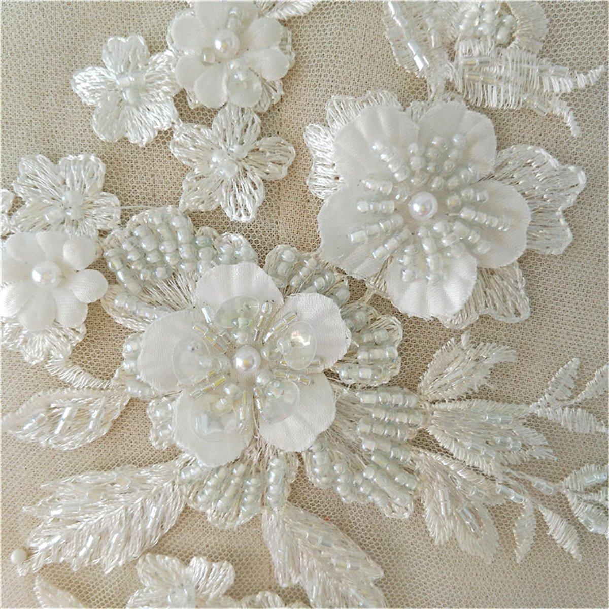 TOPWA - Vestido de encaje para boda, tela de algodón, bordado ...