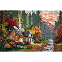 M.C.G. Textiles #37786 Latch Hook Kit, 40 by 27-Inch, Forest Chapel